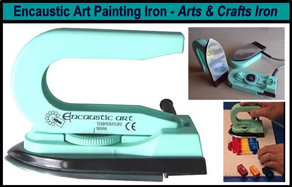 encaustic art painting iron
