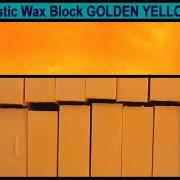 04 Golden Yellow encaustic art wax block