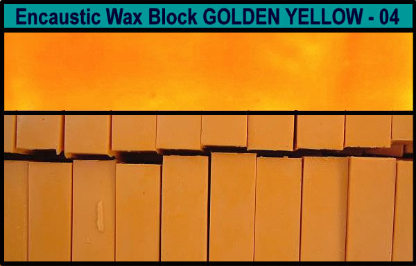 04 Golden Yellow encaustic art wax block