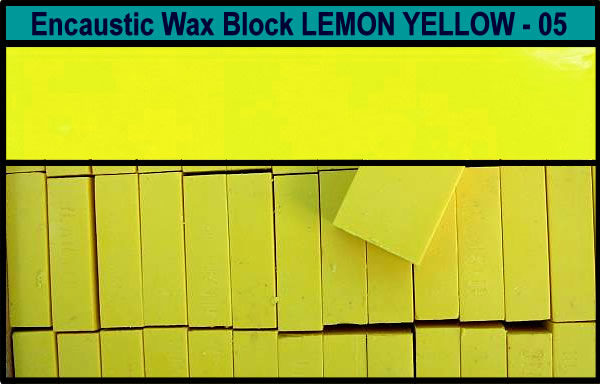 05 Lemon Yellow encaustic art wax block