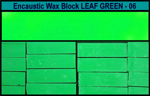06 Leaf Green encaustic art wax block