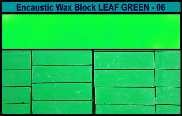 06 Leaf Green encaustic art wax block