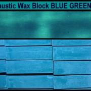 08 Blue Green encaustic art wax block