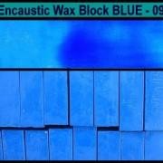 09 Blue encaustic art wax block