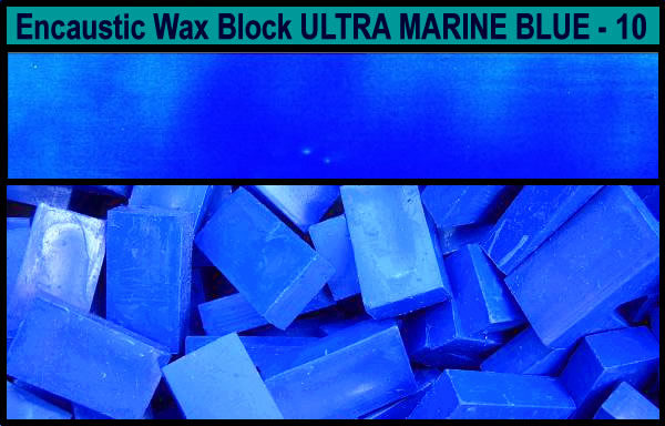 10 Ultra Marine Blue encaustic art wax block