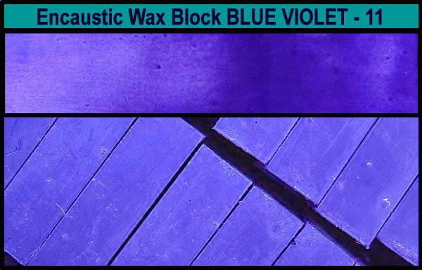 11 Blue Violet encaustic art wax block