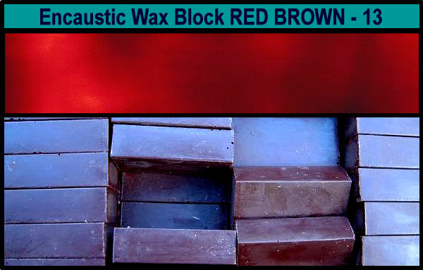 13 Rust Brown encaustic art wax block