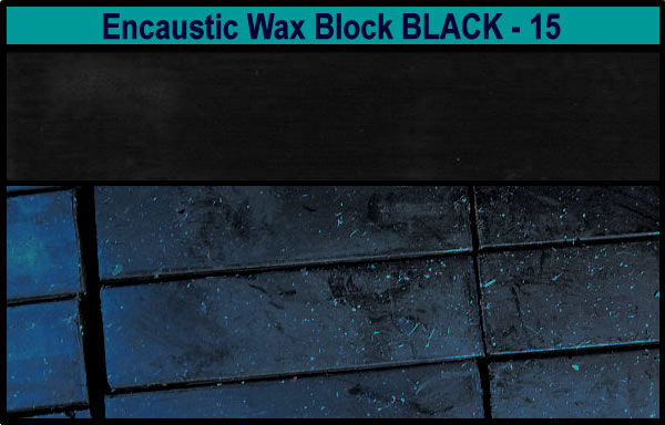 15 Black encaustic art wax block