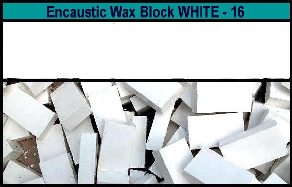 16 White encaustic art wax block