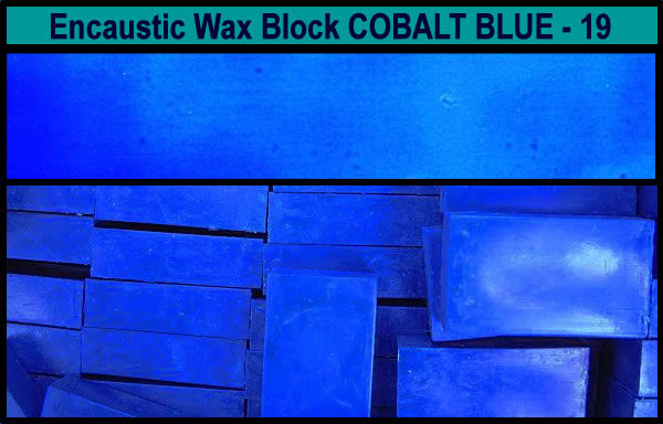 19 Cobalt Blue encaustic art wax block