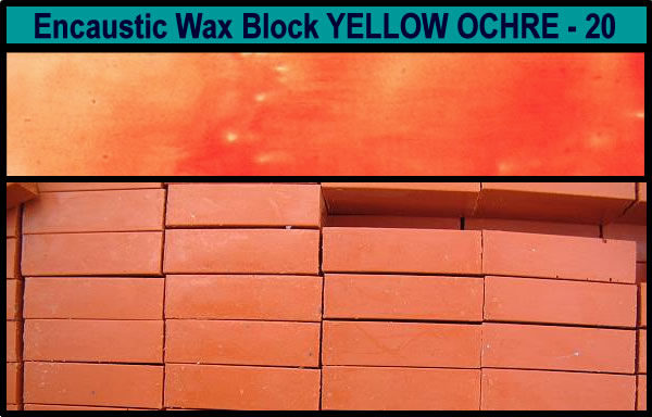 20 Yellow Ochre encaustic art wax block
