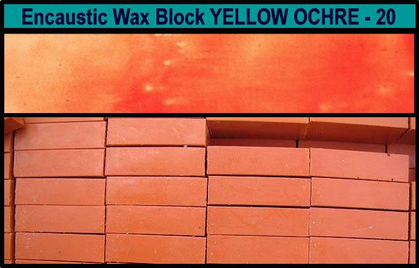 20 Yellow Ochre encaustic art wax block