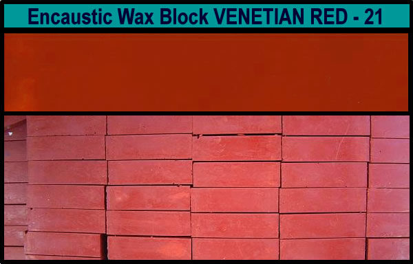 21 Venetian Red encaustic art wax block