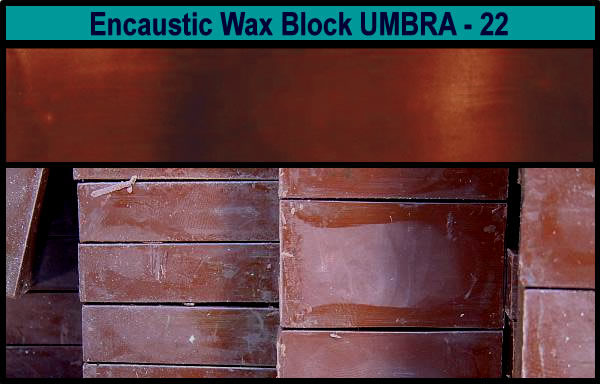 22 Umbra Brown encaustic art wax block