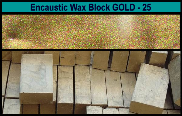 25 Gold encaustic art wax block
