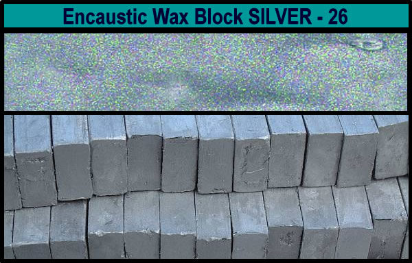 26 Silver encaustic art wax block
