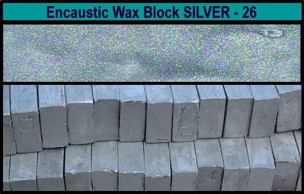 26 Silver encaustic art wax block