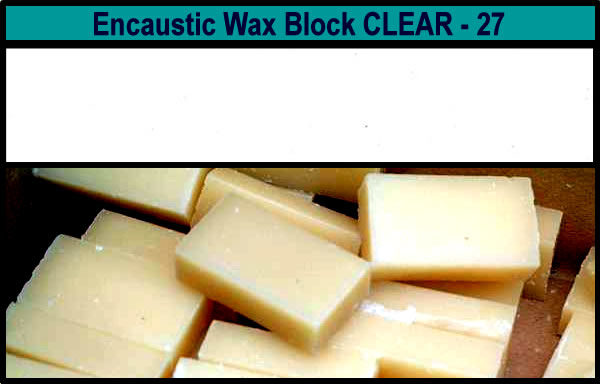 27 Clear Medium encaustic art wax block
