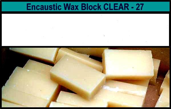 27 Clear Medium encaustic art wax block