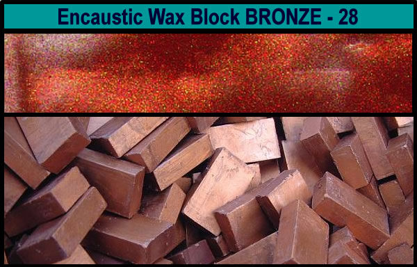 28 Bronze encaustic art wax block