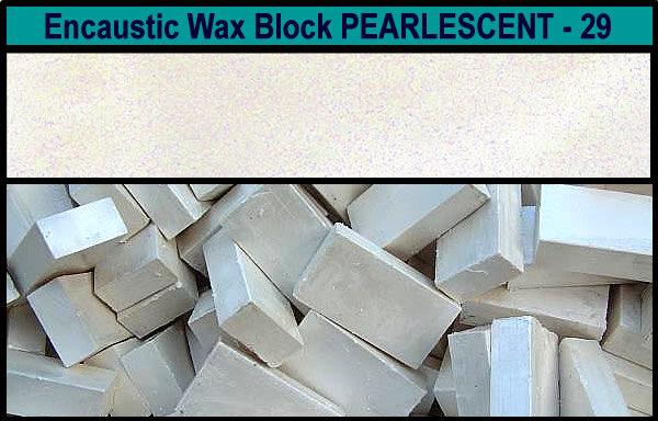 29 Pearlescent encaustic art wax block