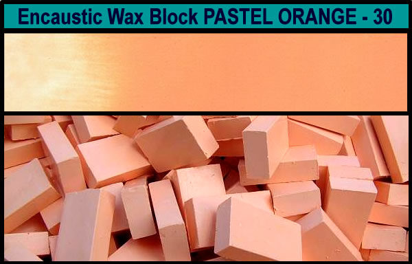 30 Pastel Orange encaustic art wax block