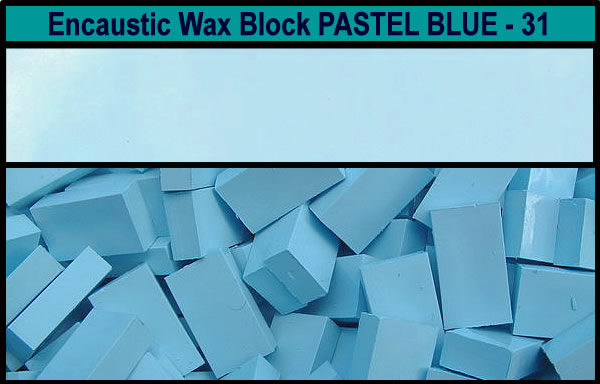 31 Pastel Blue encaustic art wax block