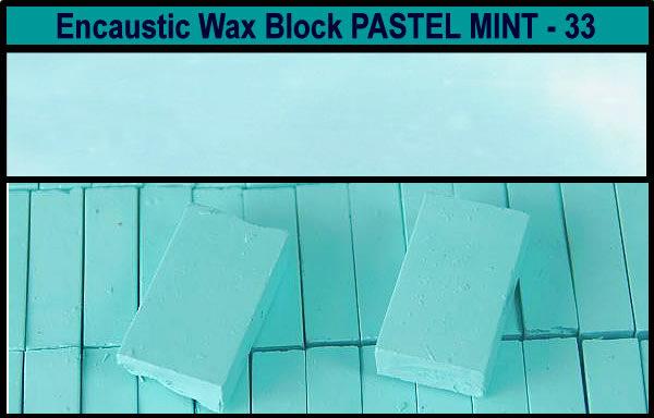 33 Pastel Mint encaustic art wax block