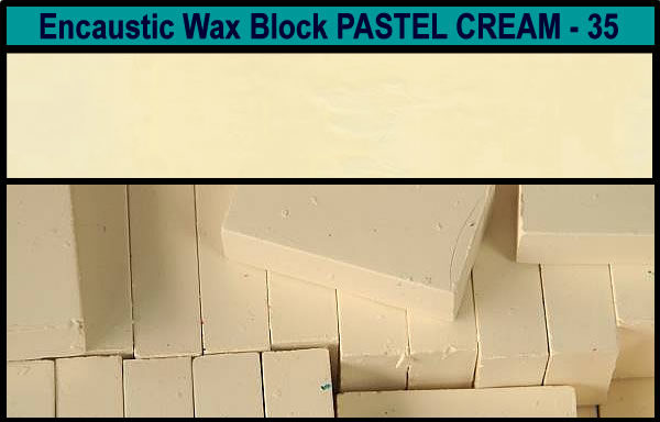 35 Pastel Cream encaustic art wax block