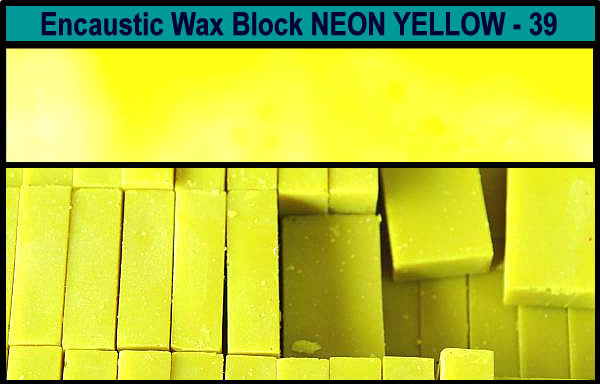 39 Neon Yellow encaustic art wax block