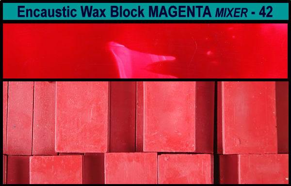 42 Magenta Mixer encaustic art wax block