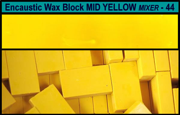 44 Mid Yellow Mixer encaustic art wax block