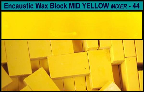 44 Mid Yellow Mixer encaustic art wax block