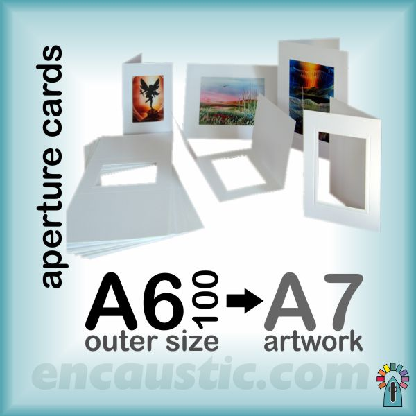 99120100 :  A6x100 aperture cards & envelopes (A7 artwork)