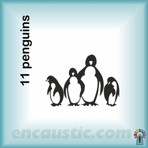 99550011PG_penguins_rubber_stamp_600