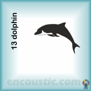 99550013DO_dolphin_rubber_stamp_600