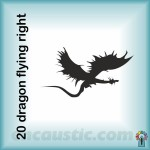 99550020DRR_dragon_flying_right_rubber_stamp_600