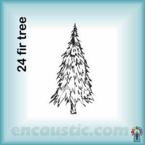 99550024FR_fir_tree_rubber_stamp_600