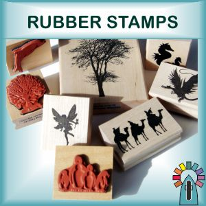 Rubber Stamps and Pad