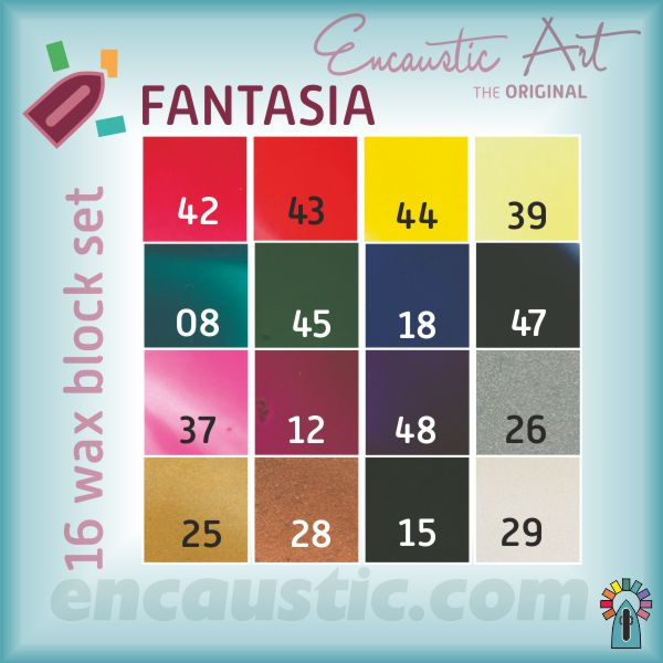99535150 FANTASIA waxes 16 block set