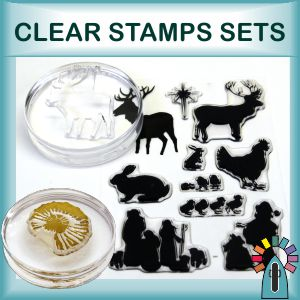 encaustic art clear stamp sets & sundry items for their use.