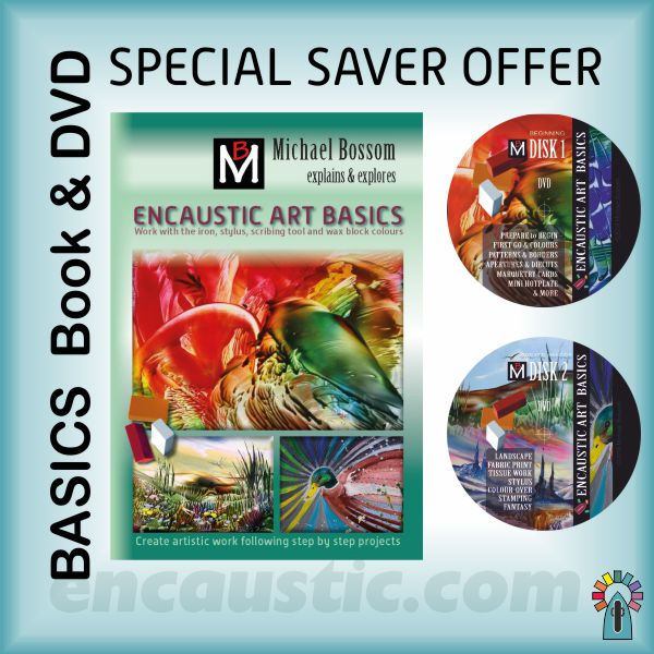 99533701: encaustic art BASICS book and DVD combination offer