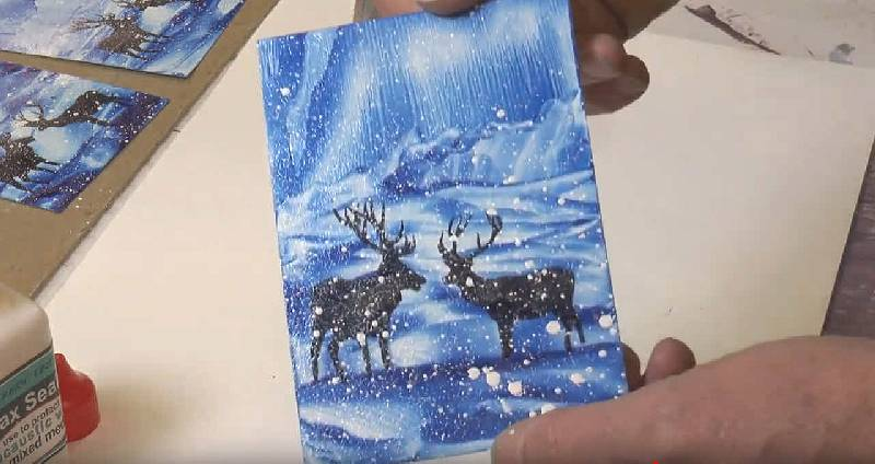 Christmas Cards 2018 - Stags in the snow