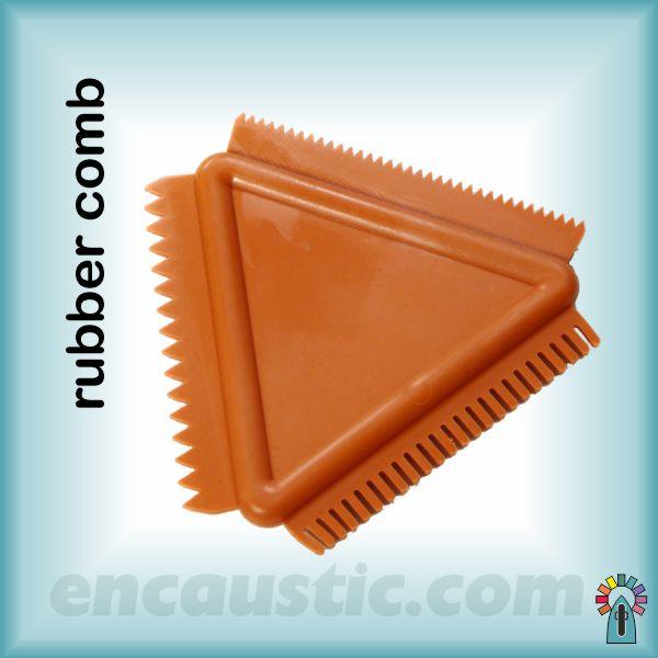 Encaustic Art Rubber Comb 2